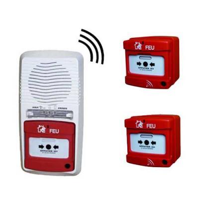 Alarme incendie type 4 radio avec 2 déclencheurs