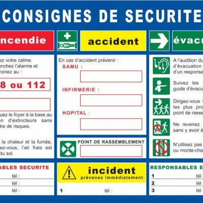 Consigne de sécurité