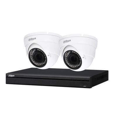 Kit de vidéosurveillance enregistreur + 2 caméras dôme - 1080p - Dahua