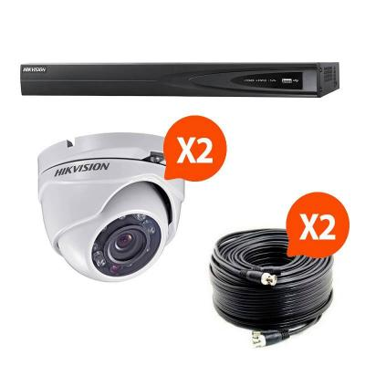 Kit video surveillance Turbo HD Hikvision 2 caméras dôme