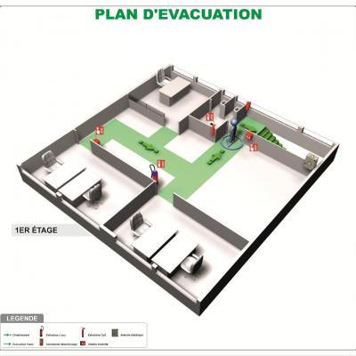 Plan d'évacuation NFX Format A3 PVC