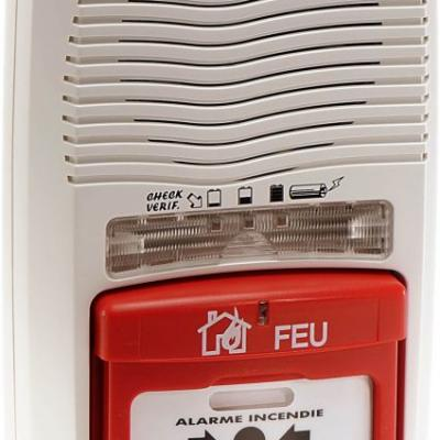 Alarme incendie Type 4 autonome avec Flash